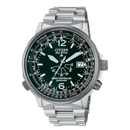CITIZEN RADIOCONTROL PILOT TITANIO AS2031-57E